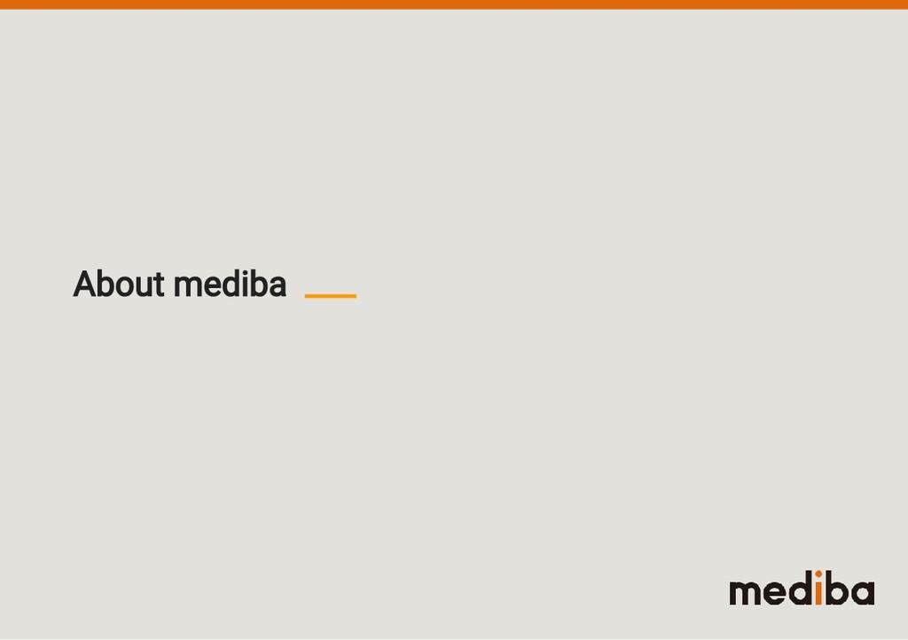 About mediba
