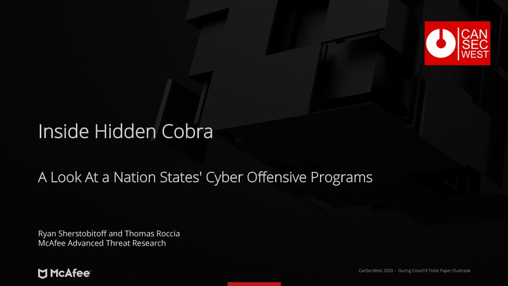 A Look At a Nation States' Cyber Offensive Prog...