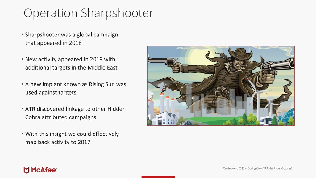 Operation Sharpshooter • Sharpshooter was a glo...