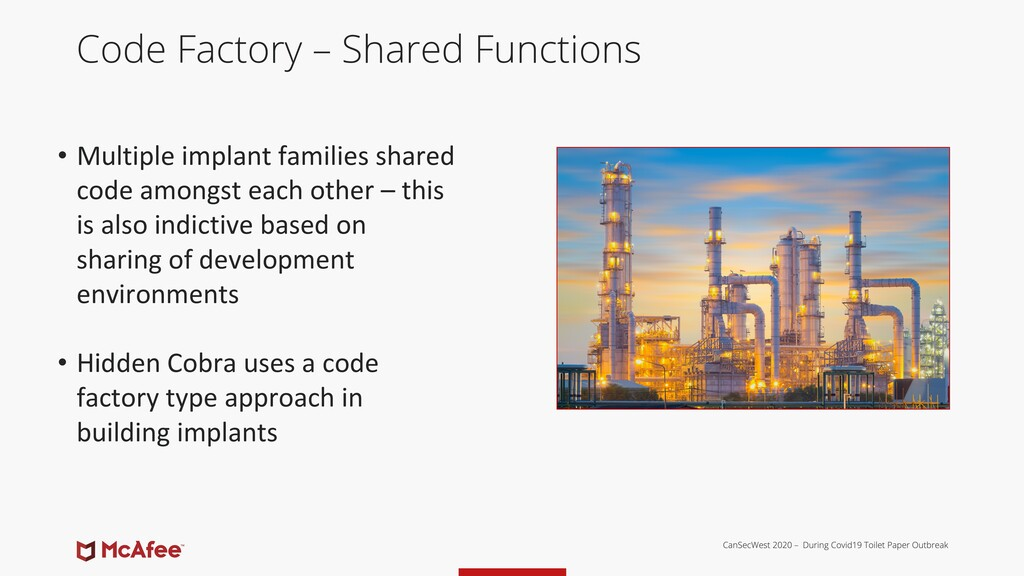 Code Factory – Shared Functions • Multiple impl...