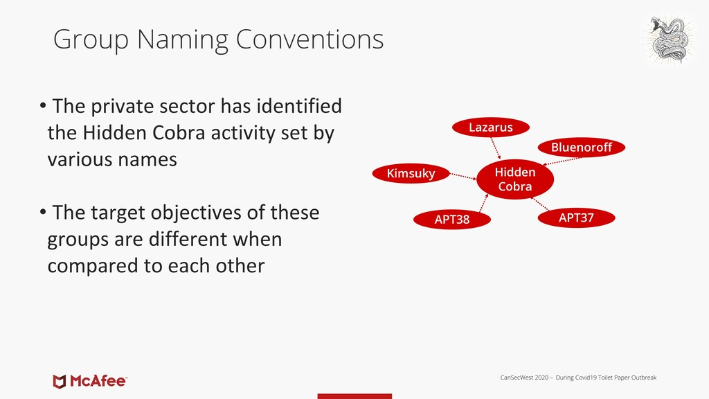 Group Naming Conventions • The private sector h...