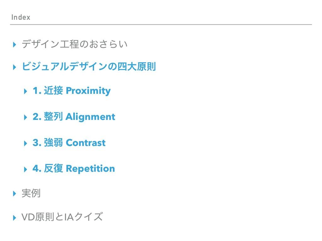 Index ▸ σβΠϯఔͷ͓͞Β͍ ▸ ϏδϡΞϧσβΠϯͷେݪଇ ▸ 1. ۙ Pr...