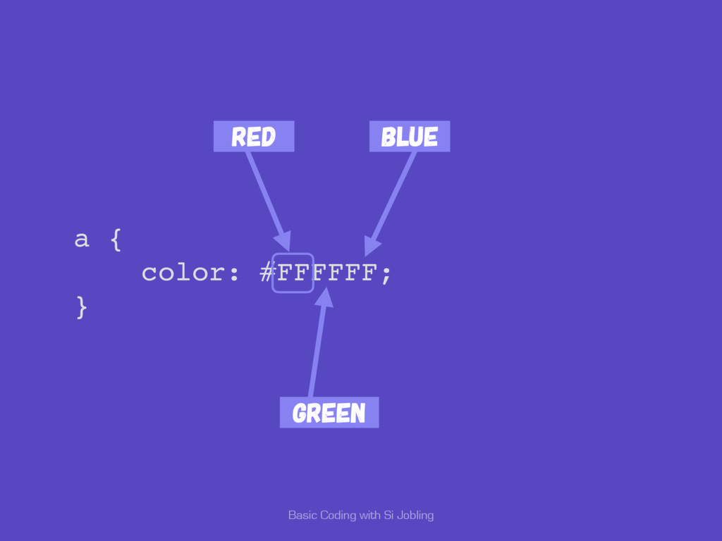 Basic Coding with Si Jobling a { color: #FFFFFF...