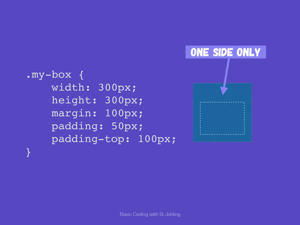 Basic Coding with Si Jobling .my-box { width: 3...