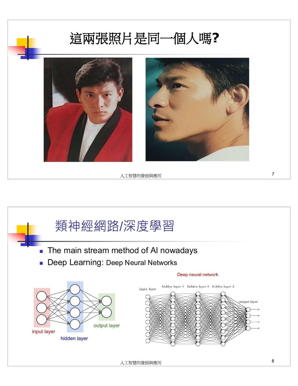 ? 7 / The main stream method of AI nowadays Dee...