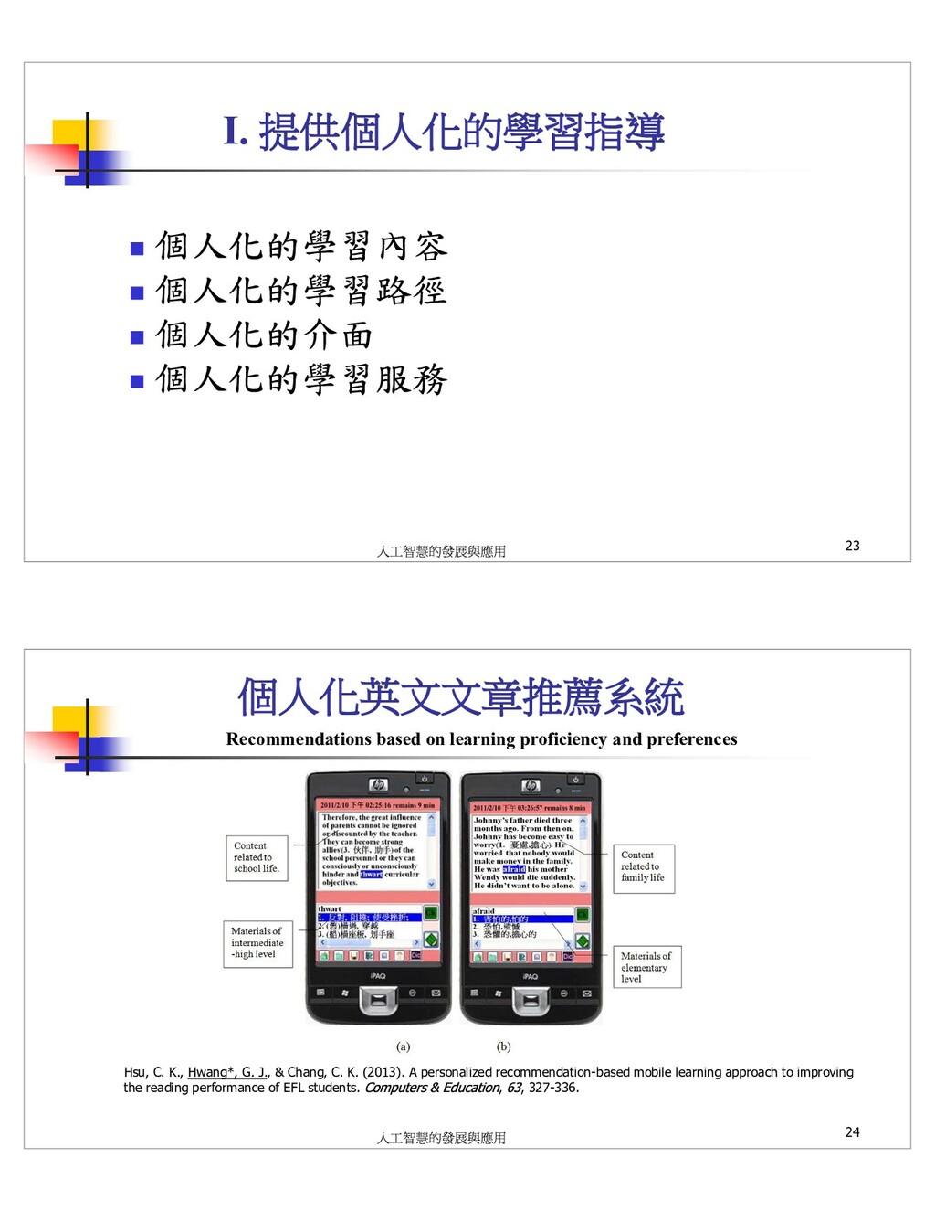 I. 23 Hsu, C. K., Hwang*, G. J., & Chang, C. K....