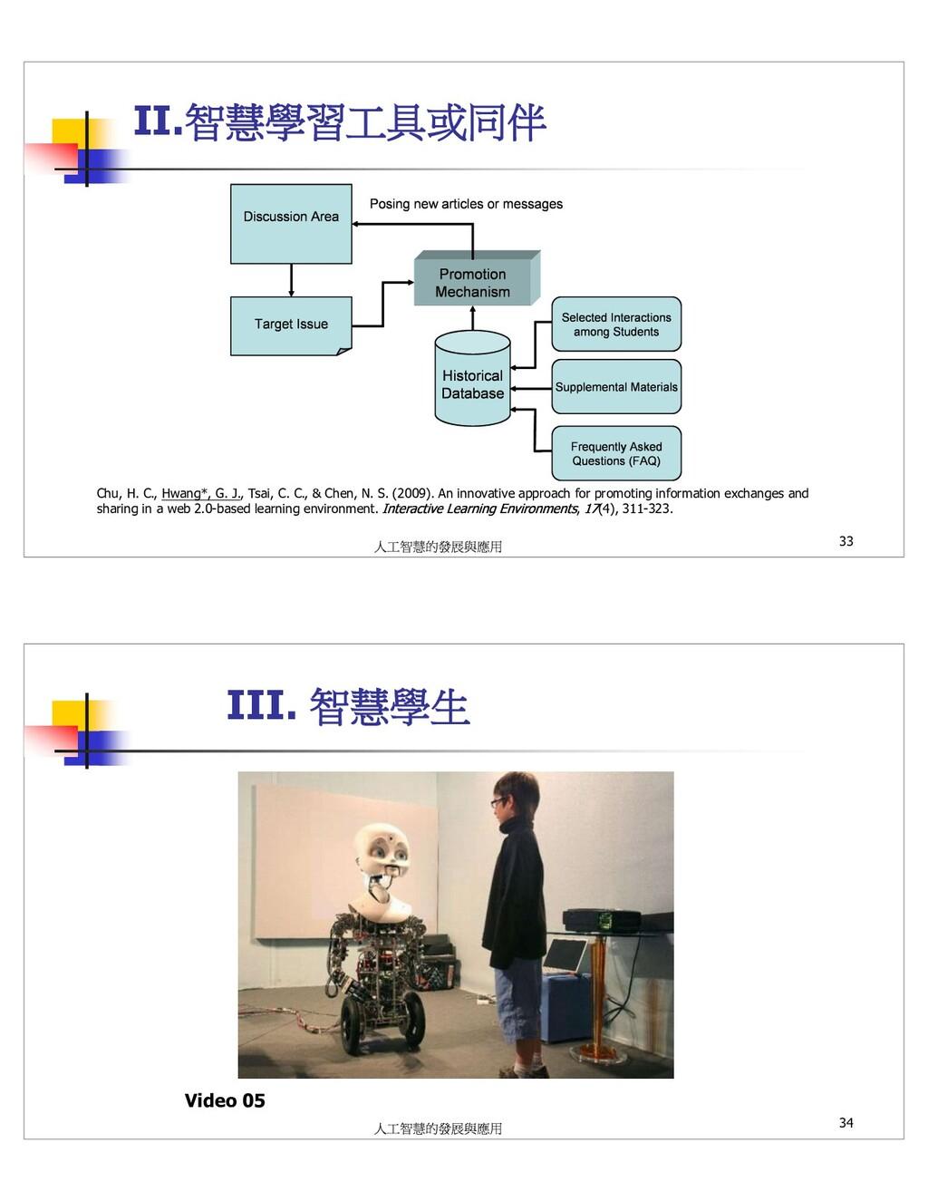II. Chu, H. C., Hwang*, G. J., Tsai, C. C., & C...