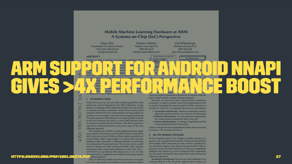 Arm support for Android NNAPI gives >4x perform...
