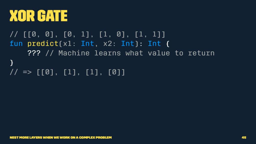 XOR Gate // [[0, 0], [0, 1], [1, 0], [1, 1]] fu...