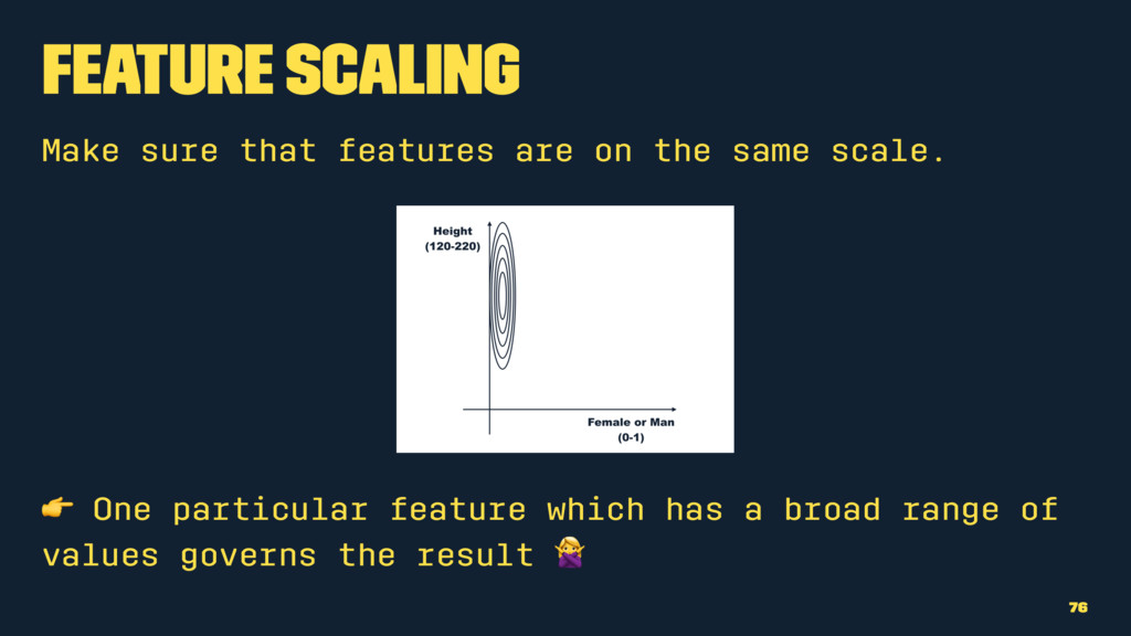 Feature Scaling Make sure that features are on ...