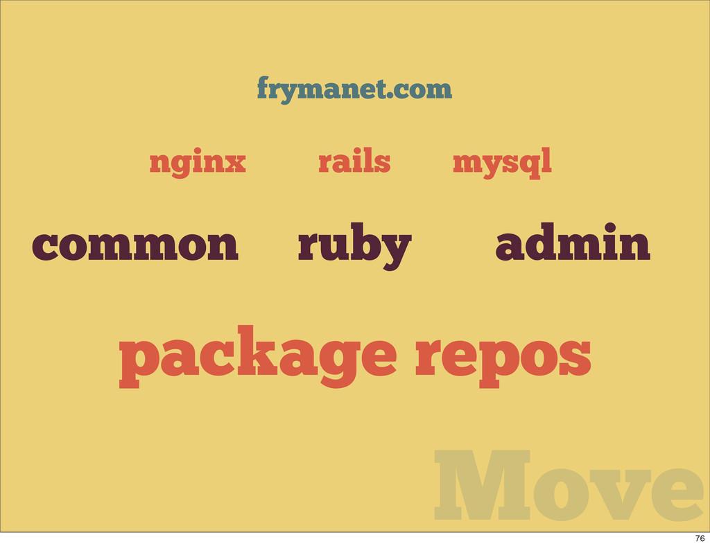 Move frymanet.com mysql nginx rails ruby common...