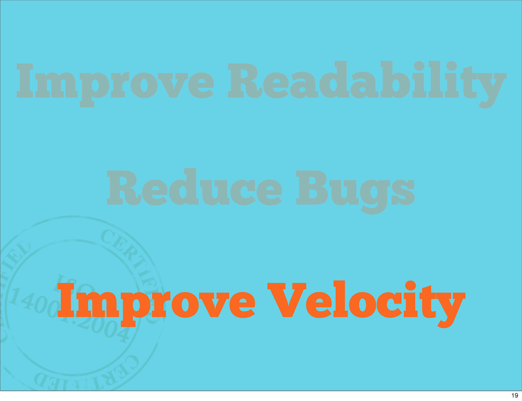 Why Refactor? Improve Readability Reduce Bugs I...