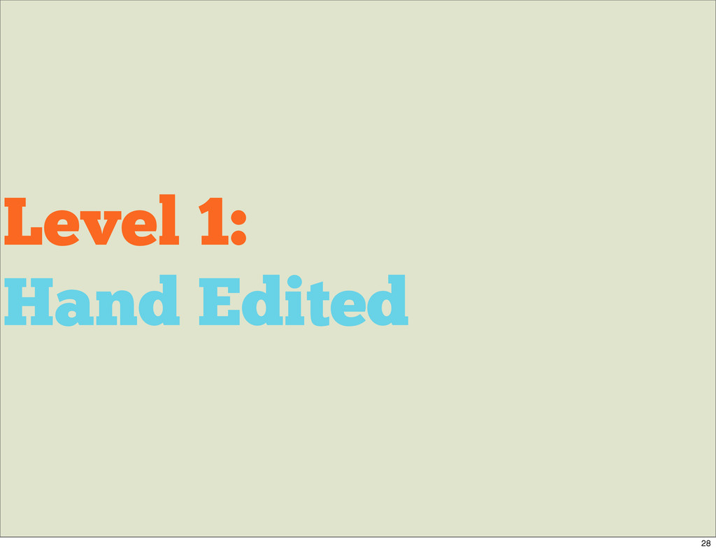 Level 1: Hand Edited 28