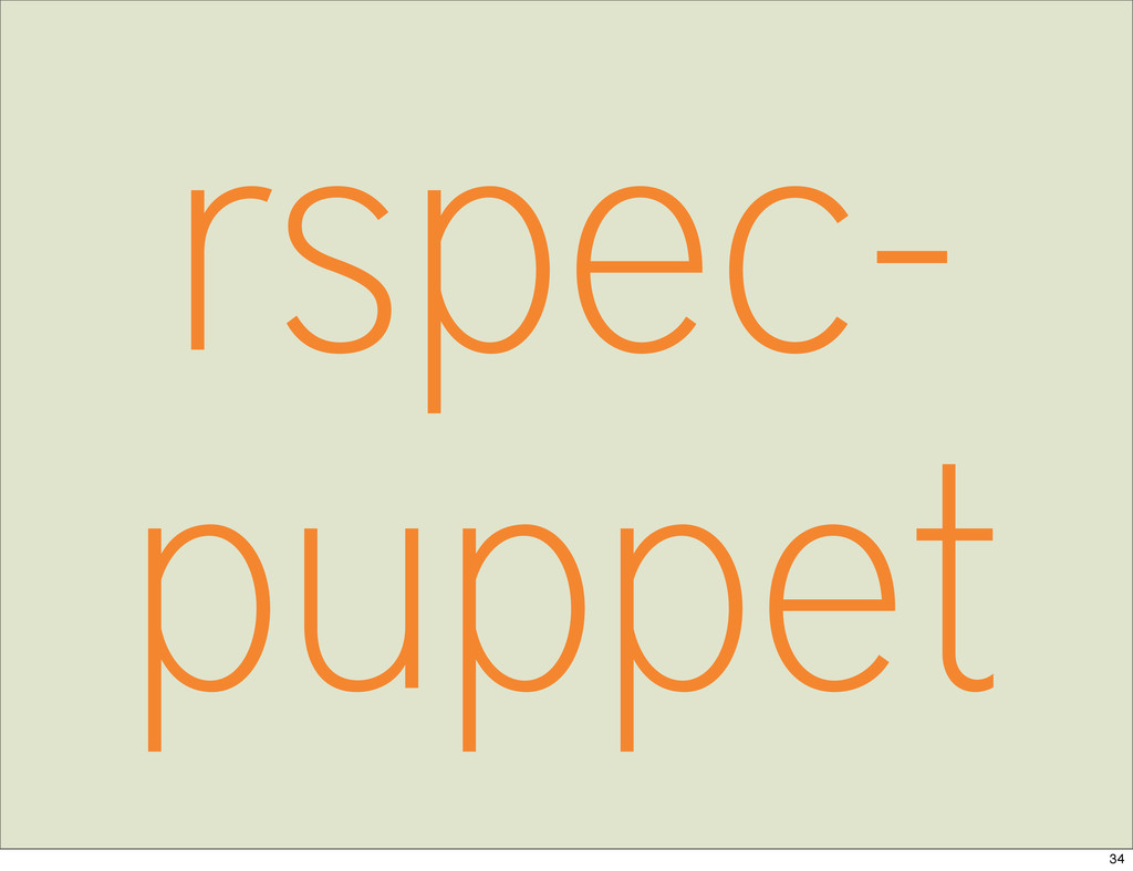 rspec- puppet 34