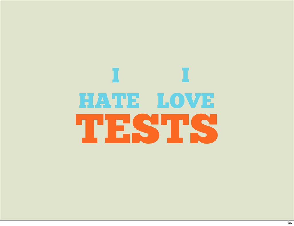 I TESTS HATE LOVE I 36
