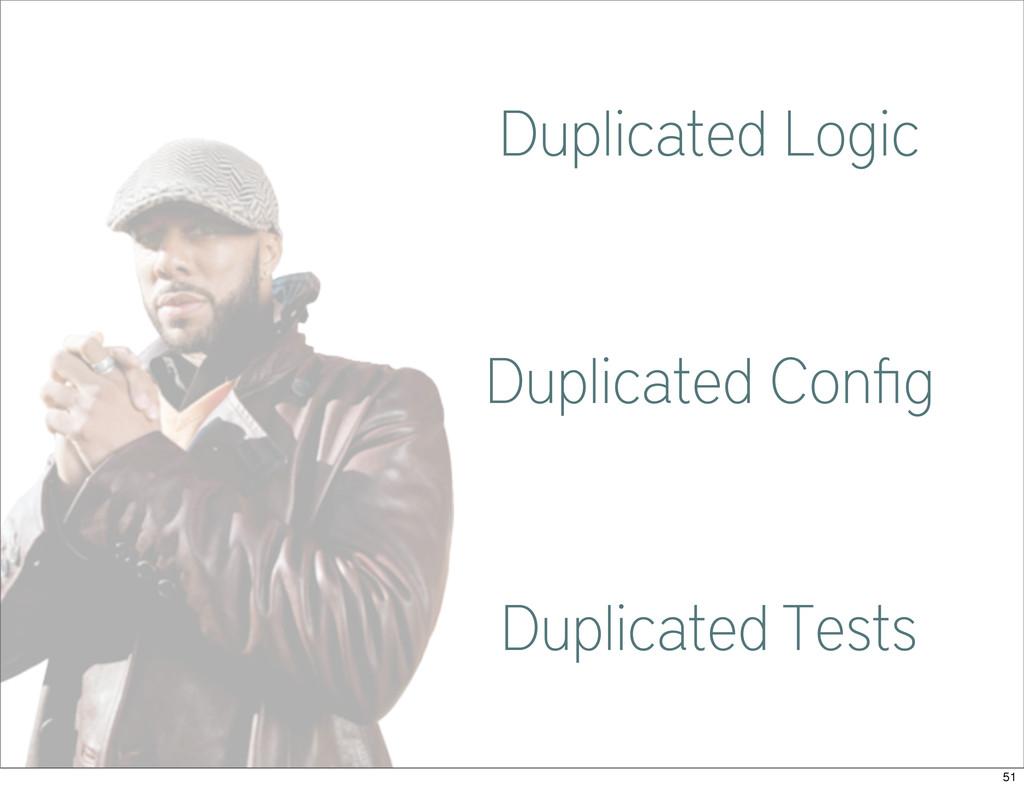 Common Duplicated Logic Duplicated Config Duplic...