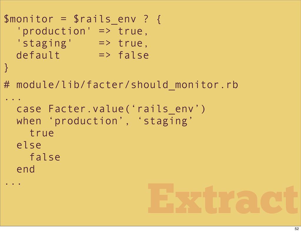 $monitor = $rails_env ? { 'production' => true,...