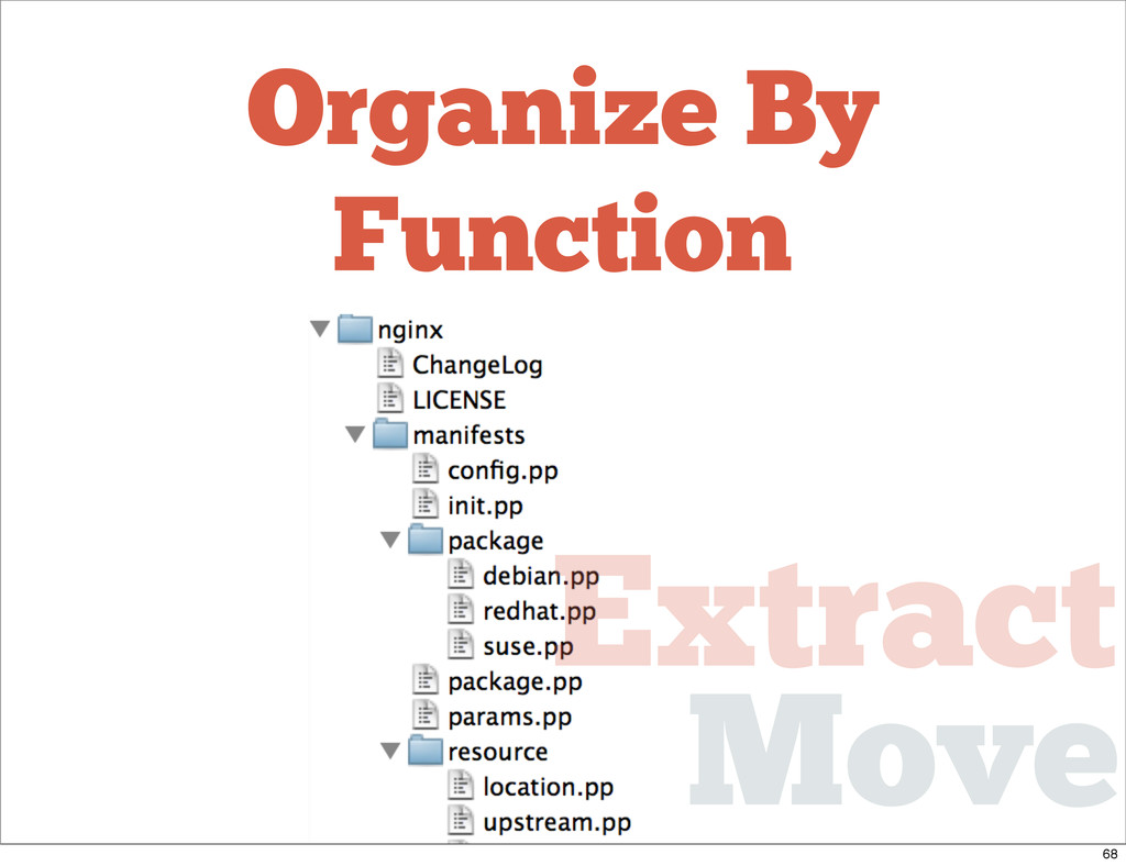 Organize By Function Move Extract 68