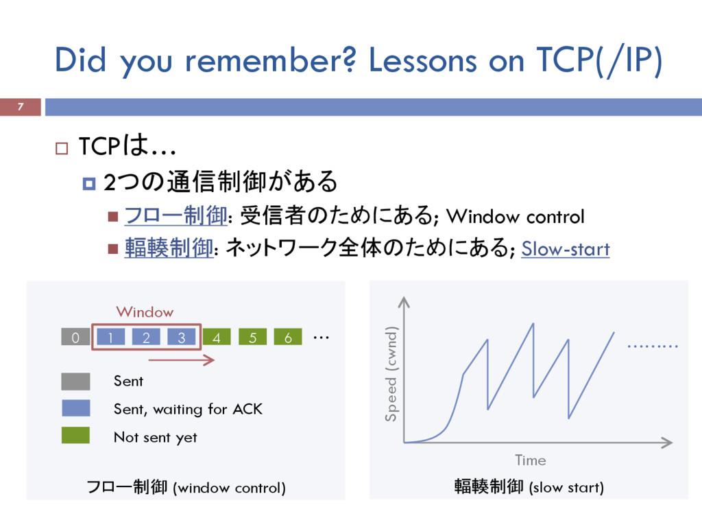 フロー制御 (window control) Did you remember? Lesson...