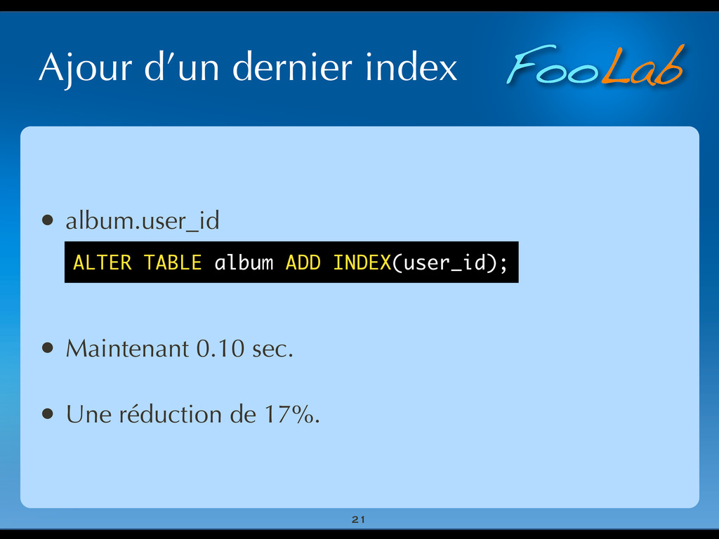 FooLab Ajour d'un dernier index 21 • album.user...