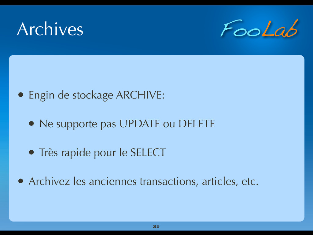 FooLab Archives 35 • Engin de stockage ARCHIVE:...