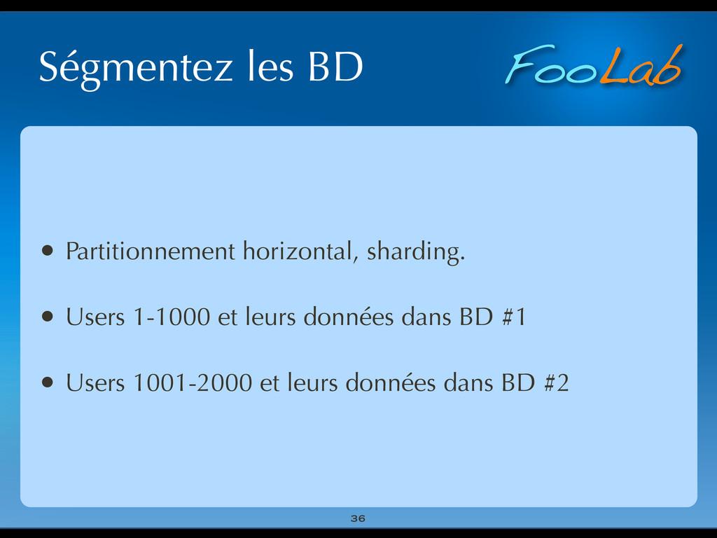 FooLab Ségmentez les BD 36 • Partitionnement ho...