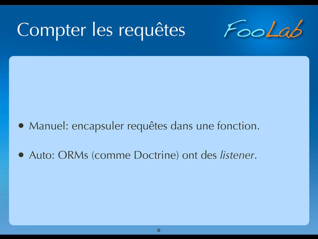 FooLab Compter les requêtes • Manuel: encapsule...