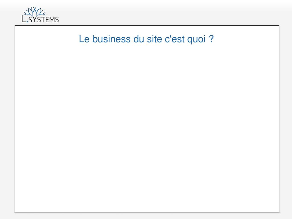 Le business du site c'est quoi ?