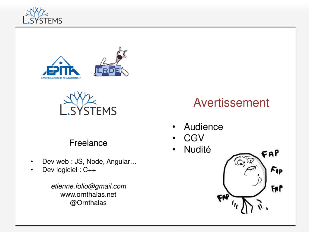 Freelance • Dev web : JS, Node, Angular… • Dev ...