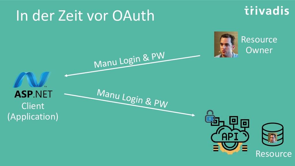 In der Zeit vor OAuth Resource Owner Client (Ap...