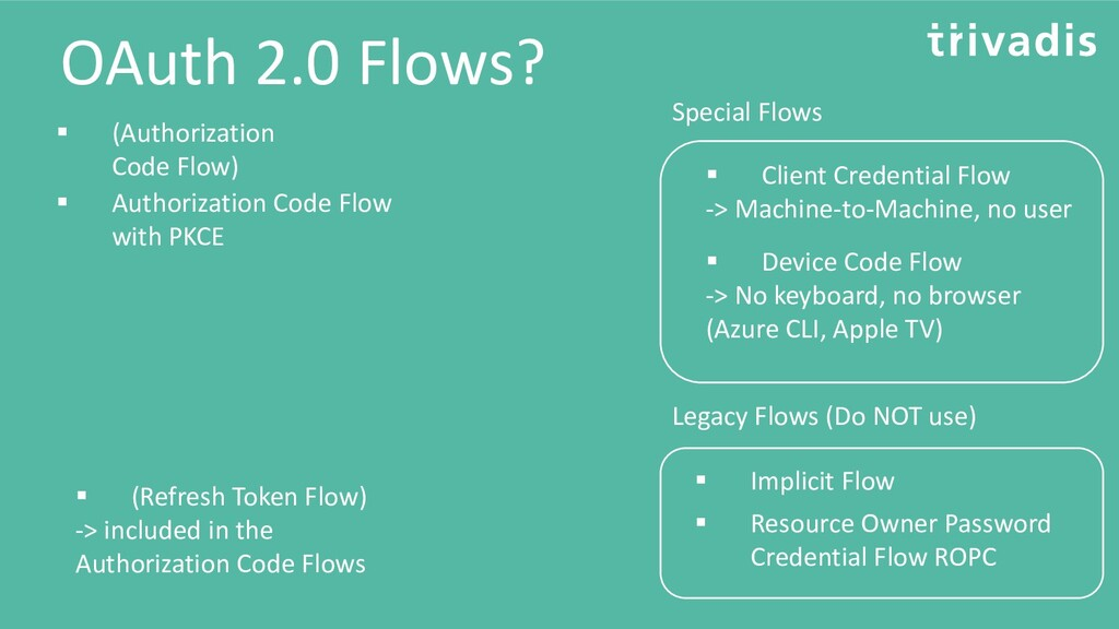OAuth 2.0 Flows? ▪ Client Credential Flow -> Ma...