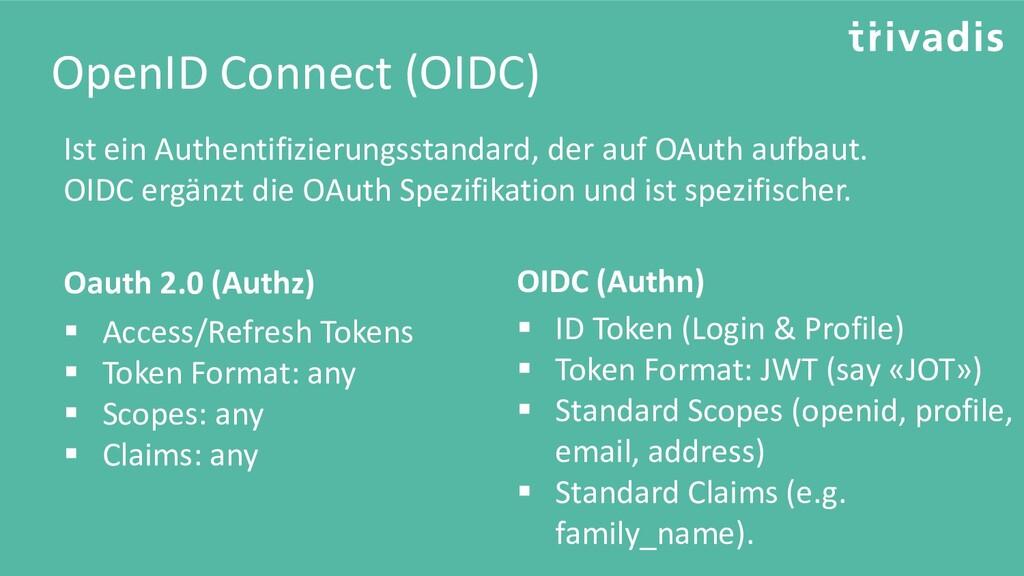OpenID Connect (OIDC) Ist ein Authentifizierung...
