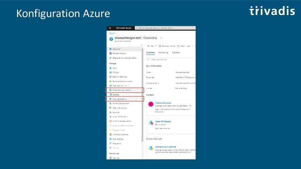Konfiguration Azure