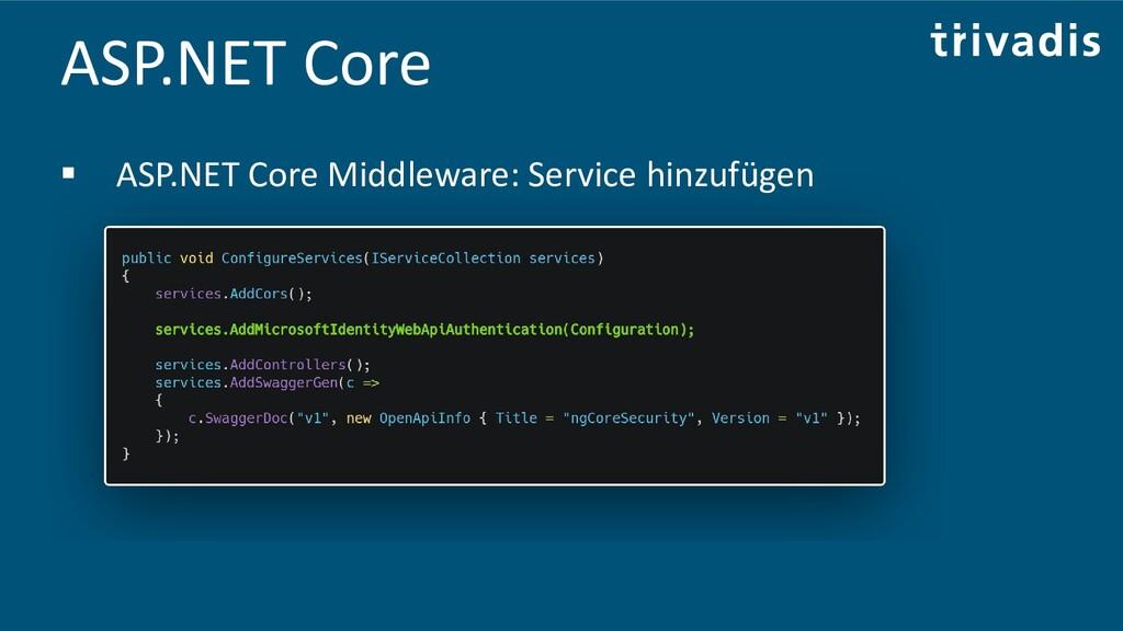 ASP.NET Core ▪ ASP.NET Core Middleware: Service...