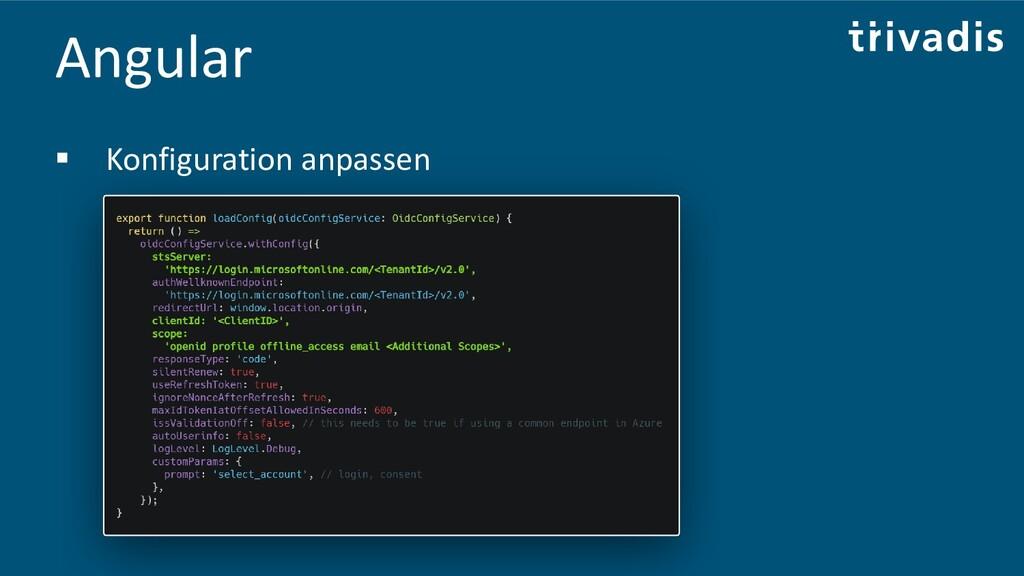 Angular ▪ Konfiguration anpassen