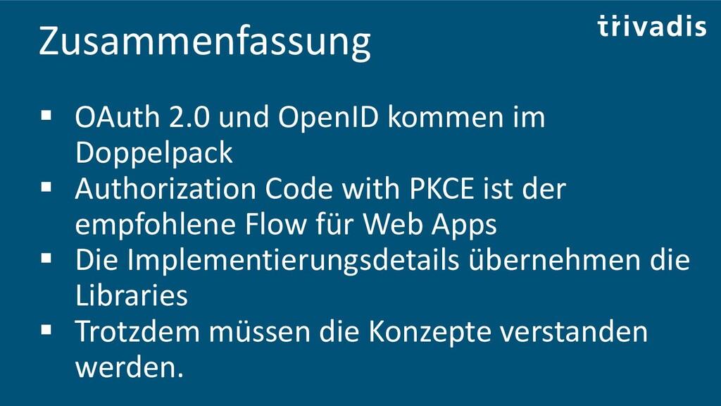 Zusammenfassung ▪ OAuth 2.0 und OpenID kommen i...