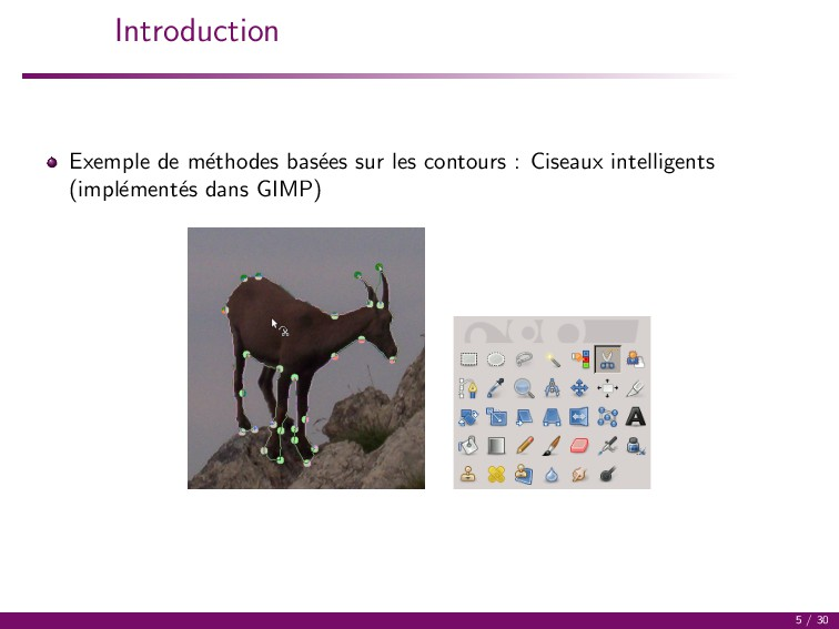 Introduction Exemple de m´ ethodes bas´ ees sur...