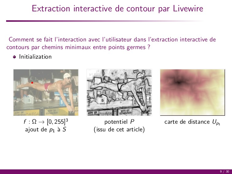 Extraction interactive de contour par Livewire ...