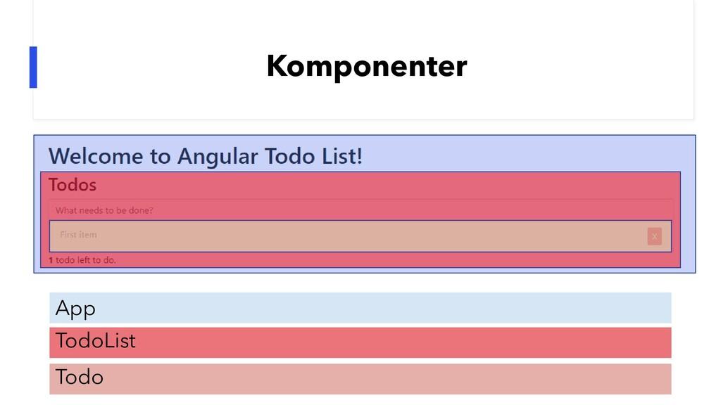 Komponenter App TodoList Todo