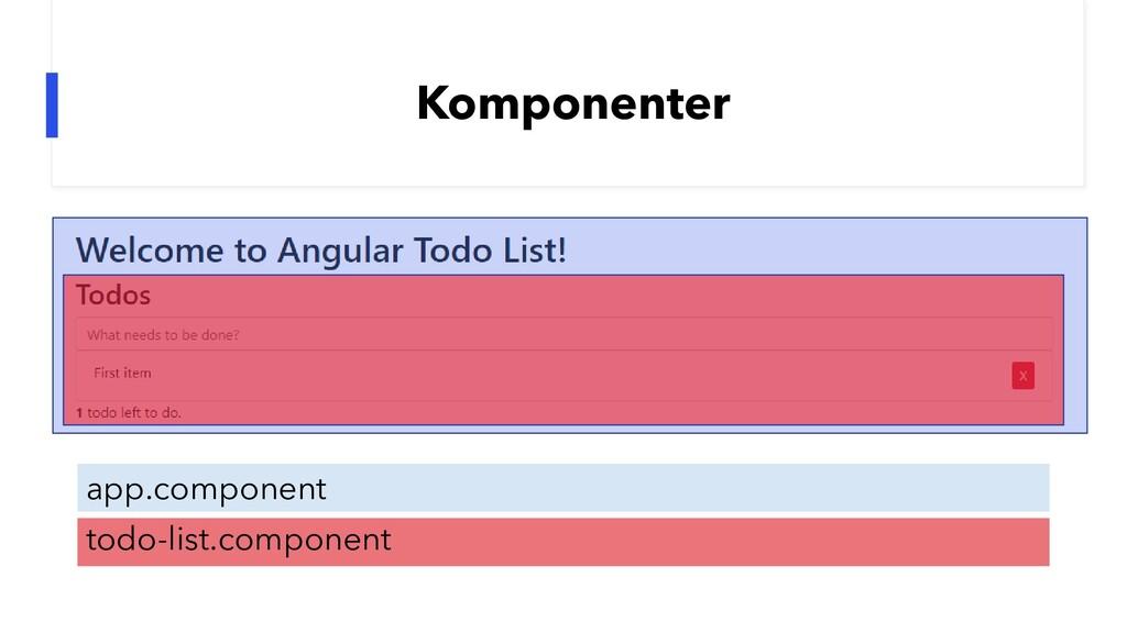 Komponenter app.component todo-list.component
