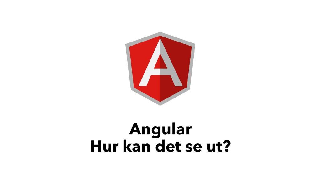 Angular Hur kan det se ut?