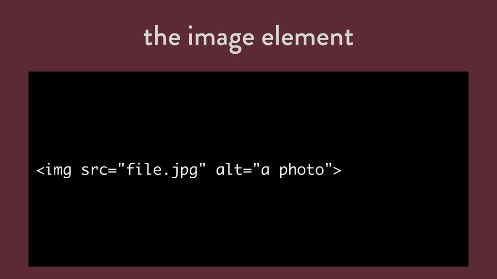 "the image element <img src=""file.jpg"" alt=""a ph..."