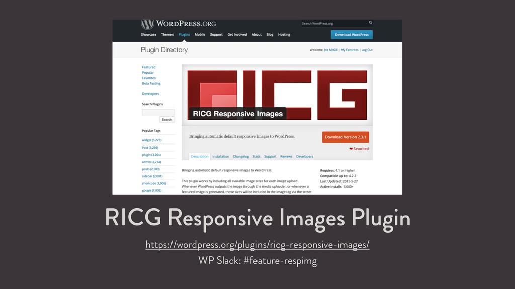 RICG Responsive Images Plugin https://wordpress...