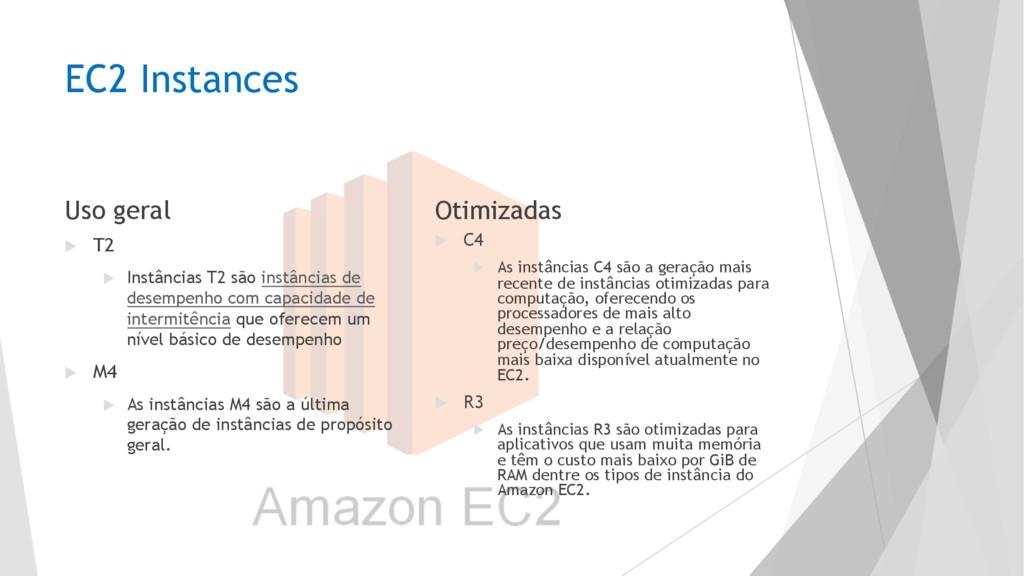 EC2 Instances Uso geral u T2 u Instâncias T2 sã...