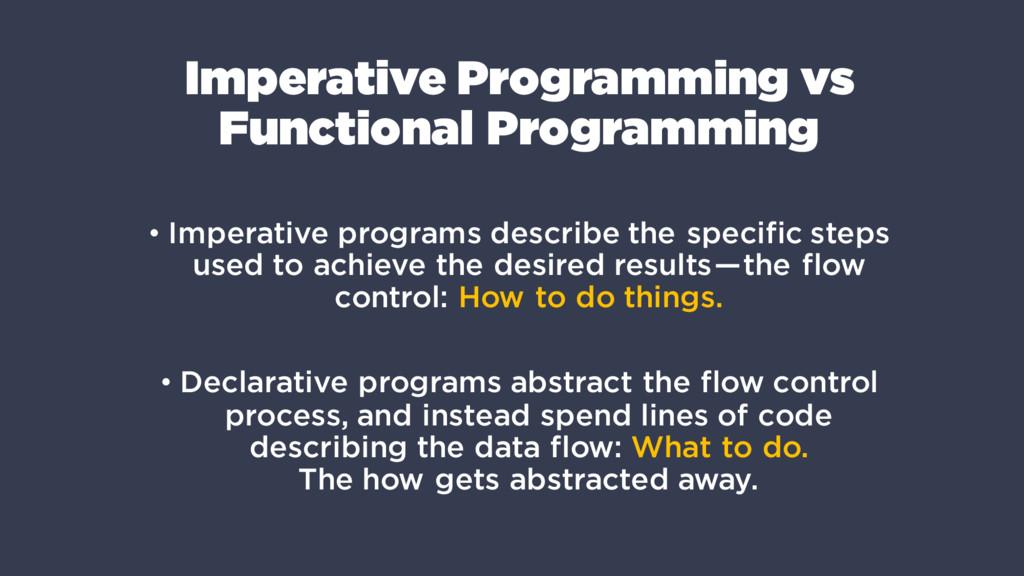 Imperative Programming vs Functional Programmin...