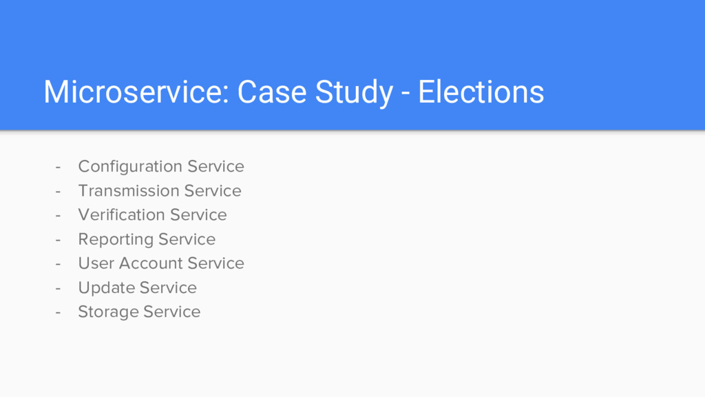 Microservice: Case Study - Elections - Configur...