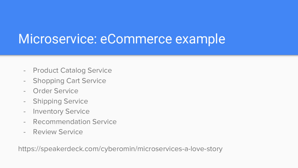 Microservice: eCommerce example - Product Catal...