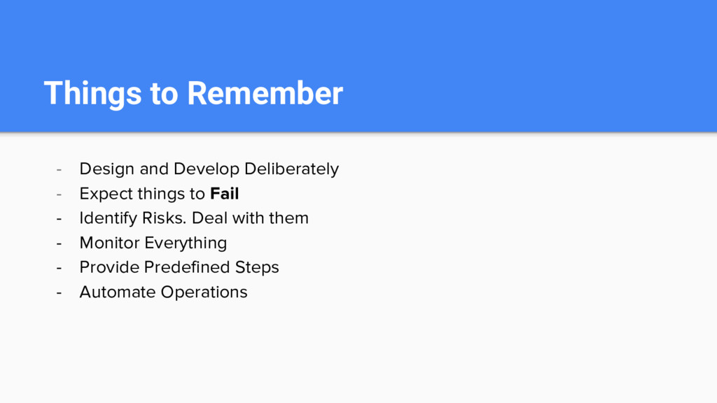 Things to Remember - Design and Develop Deliber...