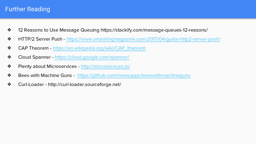 Further Reading ❖ 12 Reasons to Use Message Que...
