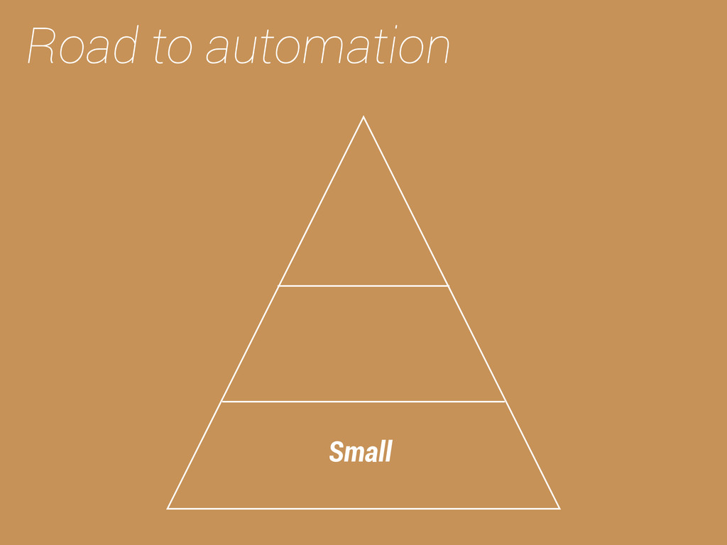 Road to automation Small